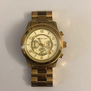 Michael Kors • Large Gold Chronograph Watch